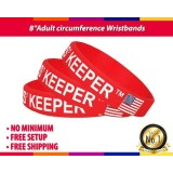 8'' Adult Circumference Popular Custom Color-Filled Wristband for Charity with Logo