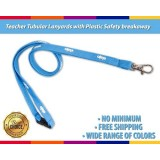 1/2'' Soft Cute Neck Tubular Lanyards with Plastic Safety Breakaway for Teacher