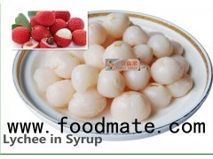 Nutritious Tropical Canned Fruit / Lychee Fruit Canned Heavy Syrup