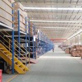 Two-layer Industrial Heavy Duty Warehouse Storage Metal Mezzanine Floors Rack System In Qingdao