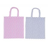 Multi-use Avon Audit Vegetables And Fruit Carry Print Cotton Tote Bag With Zipper