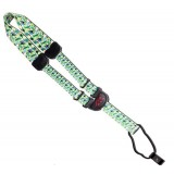 """1 1/2"""" Leather ukulele strap with heat transfer printed neck in Hawaii design with tri-gide adj"""