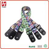 Durable Polyester Aztec Style Adjustable Soft Ukulele Shoulder Strap With Leather Ends
