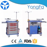 Medical Emergency Drug Crash Cart With Drawers