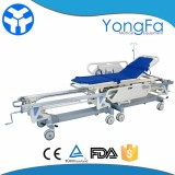 Hospital Patient Transfer Connecting Trolley Stretcher Cart For OT Room