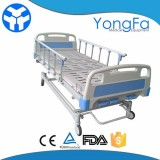 Multi-function 3 Crank Adjustable Hospital Manual Crank Bed With ABS Board