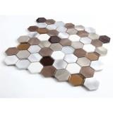 Market Customers Favourite Geometric Shape Aluminum Mosaic And Marble Tiles