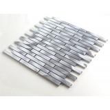 2017 Newest Design Urban Silver Strip Made In China Aluminum Mosaic