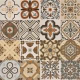 Hand Made Flower Design Porcelain Floor Tile For Homemade Decoration