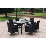 Cube Table Patio Dining Set,KD Design,7 Pcs,Popular