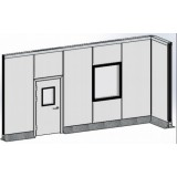 Modular Sandwich Wall System—Aluminum Honeycomb Panel