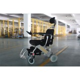 Adjustable Headrest And Pedal Wheelchair