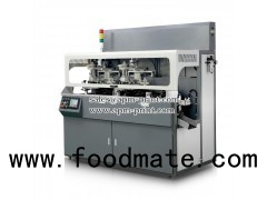 S107 Multicolor Automatic Chain Type Cap UV Screen Printing Machine With Flame Treatment