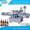 Automatic Sauce bottle thress sides adhesive sticker labeling machine