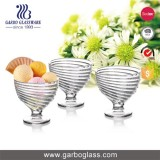 280ML Hurricane Shape Glass Ice Cream Bowls With Short Stem For Enjoy Dessert Sundae Yogurt Or Salad