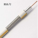 75ohm CE ISO RoHS Certificated Low Loss CCTV RG6 Waterproof Aerial Support Coaxial Cable