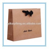Customized Brown Kraft Paper Garment Packaging Bag For Clothing
