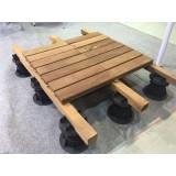 Outdoor Raised Floor Screwjack Deck Terrace Support MB-T0-D(60-105mm)