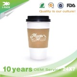 12 Oz Disposable Paper Party Cups With Lids And Straws For Hot Drinks