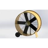 50 Inch Middle Diameter Axial Negative Pressure High Strength Steel Plate Fan