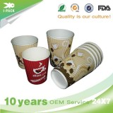 Personalised Printed Cheap Takeaway Coffee Paper Cups With Lids And Sleeves Wholesale