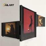 6 Inch Newstyle Black Connectable Acrylic PU Creative Photo Frame For Home Decoration Four Piece Set