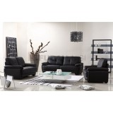 Black Knock Down Sofa Set For Living Room With Plastic Legs