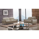 Fashionable Home Sofa Set With Contrasting Piping And Stainless Steel Feet