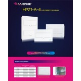 White Push-Open Door Power Distribution Box