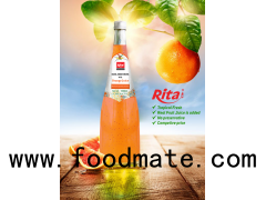 1000ml Glass Bottle Orange Flavor Basil Seed Drink (https://rita.com.vn)