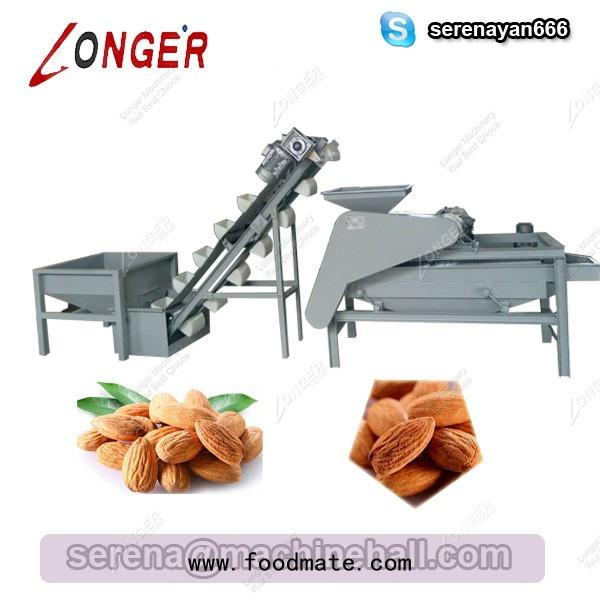 almond shelling machine line