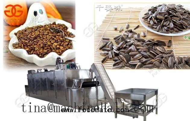sunflower seed roasting machine