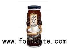 Cappuccino Coffee Drink In Glass Bottle | glass beverage bottles wholesale