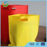 35gsm White Supermarket Non Woven D Cut Shopping Bag