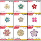 Flower Design Shoes Plastic Clips Various Colors Flip-flop Decorative Buckle Shoes Ornament