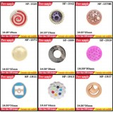 Popular UV Electroplate Round Plastic Bead Accessories Crystal Bead Shoes Decoration Shoes Uppers Pl