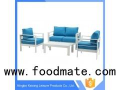 3 Pieces Patio Sofa Set, Aluminum Frame, Chinese Modern Design