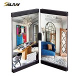 6 Inch Black Connectable Acrylic Creative Photo Frame For Home Decoration Two Piece Sets Leggy Horse