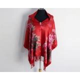 Women Winter Warm Silk Velvet Burnout Scarves And Shawl For Ladies