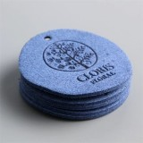Custom Debossed Logo Microfiber Suede Leather Label