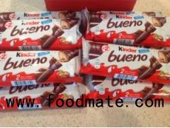 Kinder chocolate  40 pcs/case   Kinder bueno  30 pcs in box /   Kinder Joy:  72pcs / crtn;