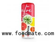 Private Label Brand Sparkling Aloe Vera Grape Fruit 320ml