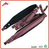 Brown Color Genuine Leather Comfortable Padded Accordion Belts 96 Bass 120 Bass Accordion Soft Shoul