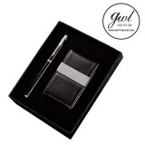 DIY Leather Card Holder With Pen In Corporate Gifts Basket Sets For Gift Solutions