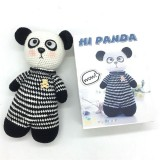 Hi Panda Cotton And Acrylic Yarn Kids Crochet Set