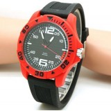 Silicone Rubber Strap Wrist Cheap Plastic Big Size Men Military Watches
