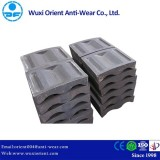 High Chromium Cast Iron Mill End Lining Without Crack And Cool Lap Defects