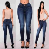 Lace Up Jeans For Women