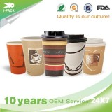 Custom Insulated Disposable Solo To Go Coffee Cups With Lids