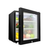 30L Glass Door Mini Bar Refrigerator With LED And Lock
